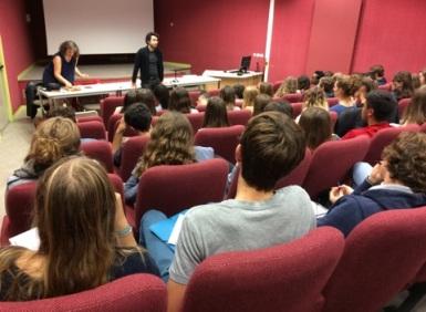 Avec les élève, Lycée Bellevue, La Rochelle, 2017.