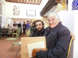 Avec Etel Adnan, Paris, 2014.