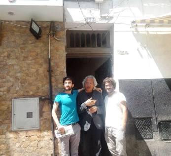 Avec Salah Al Hamdani, Fadi Al Toufaili, Agérie, devand la maison d'Albert Camus, 2015.