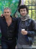 Avec Amir OR, poète Israélian, Bruxelles, 2016.