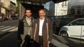Avec Issa Makhlouf, Paris, 2014.