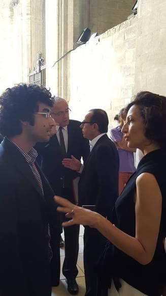 Avec Audrey Azoulay, La Chartreuse, 2016.